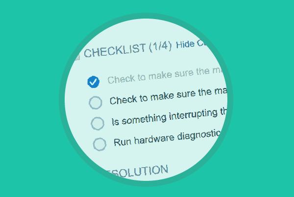 Ticket Checklist